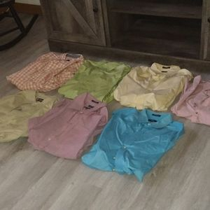 Lot of (7) Button Up Casual Long Sleeve Shirts